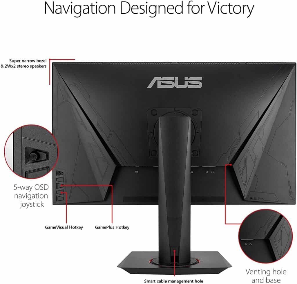 Asus VG278Q With Speakers And Navigation Joystick