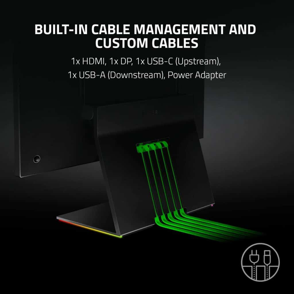 Razer Raptor 27 Gaming Monitor Built In Cable Management