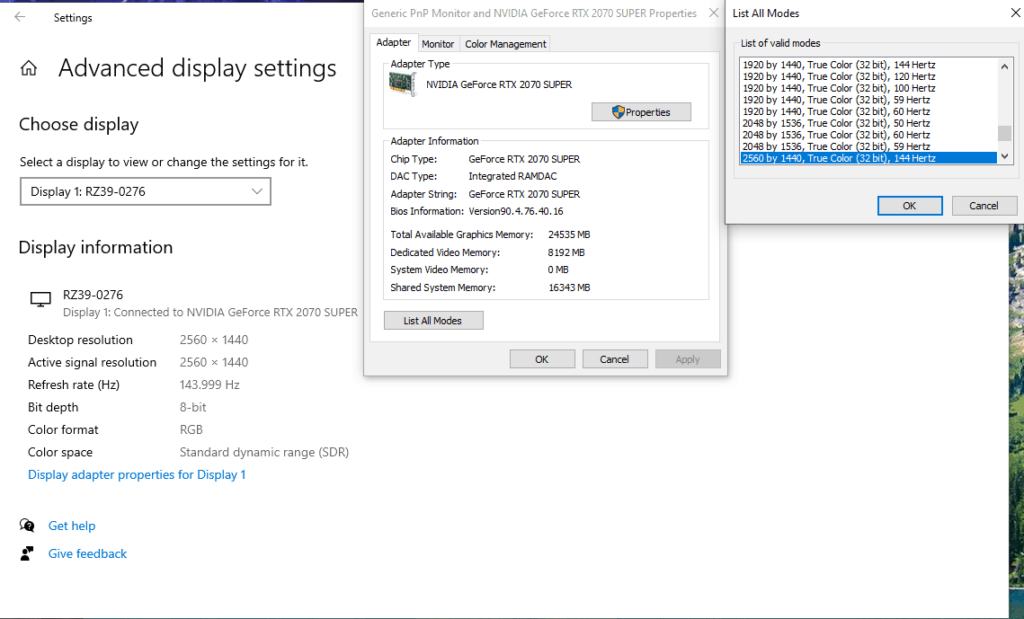 How To Change Refresh Rate Windows 10